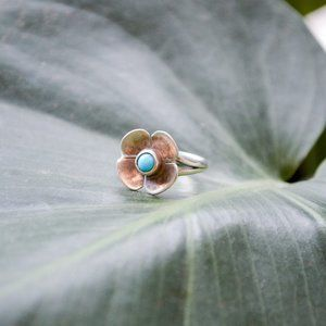 Jewelry - Sterling Silver and Turquoise Pinky Ring